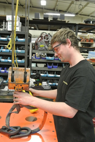 Aaron Duff is working on the manufacturing floor at SencorpWhite.