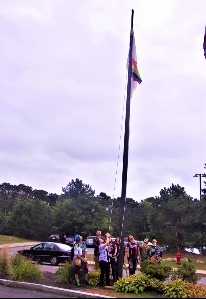 Raising of flag 1