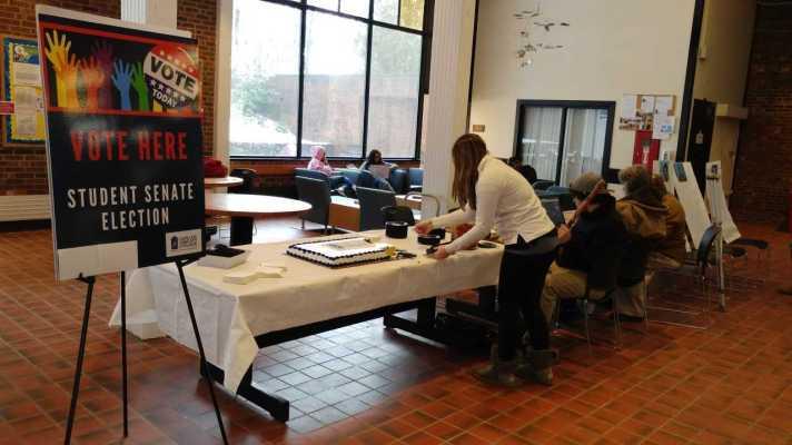 Student Senate Trustee Voting table