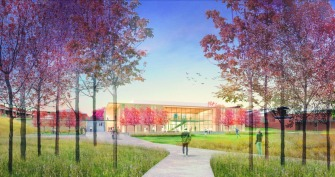 Official artist rendering of new science building