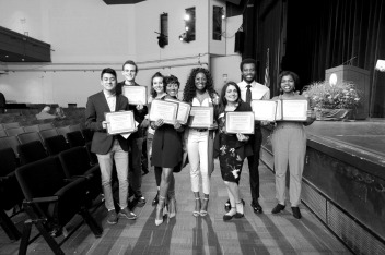 Past recipients recieve their scholarships. courtesy of ccccfoundation.org