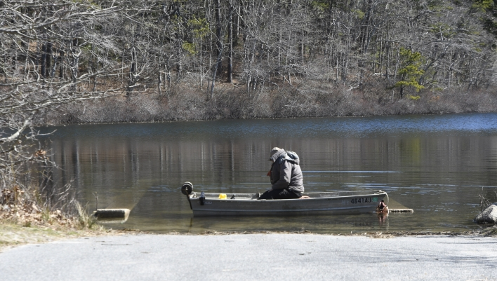 Unidentified fisherman at Nickerson State Park Brewster